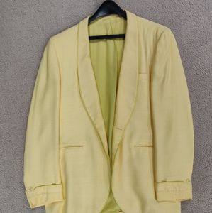 Yellow After Six Vintage Dinner Jacket Size 40R